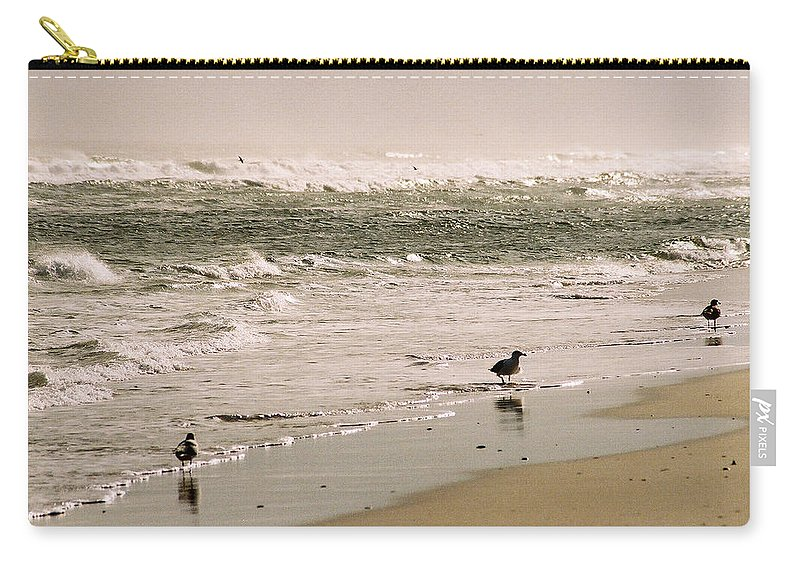 Seascape Carry-all Pouch featuring the photograph Ocean Edge by Steve Karol