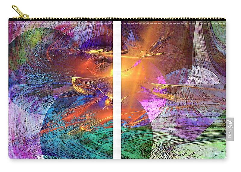 Ocean Fire Carry-all Pouch featuring the digital art Ocean Fire by John Beck