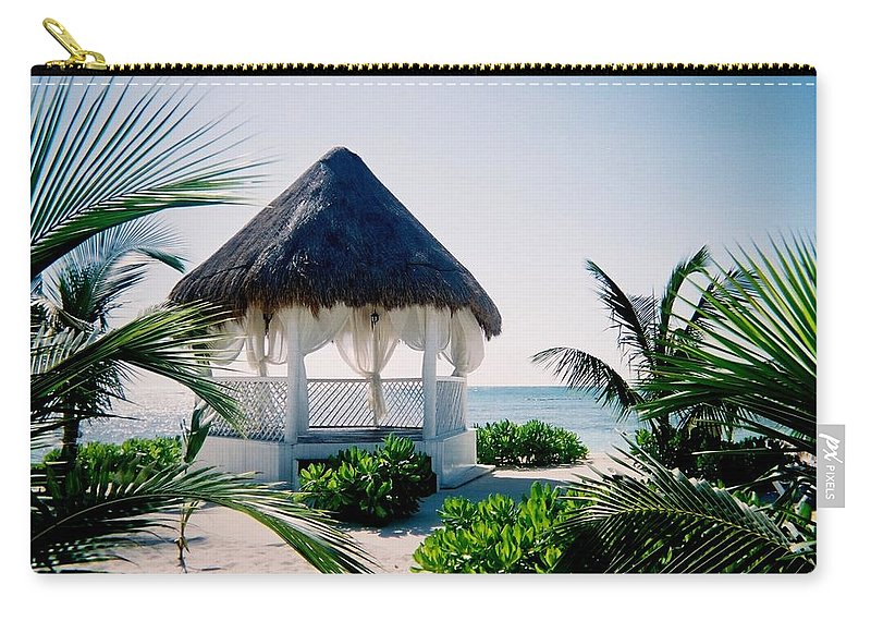 Resort Carry-all Pouch featuring the photograph Ocean Gazebo by Anita Burgermeister