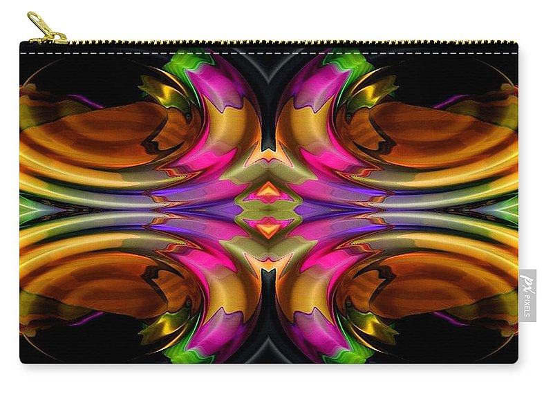 Colorful Carry-all Pouch featuring the digital art Ocean Grove by Robert Orinski