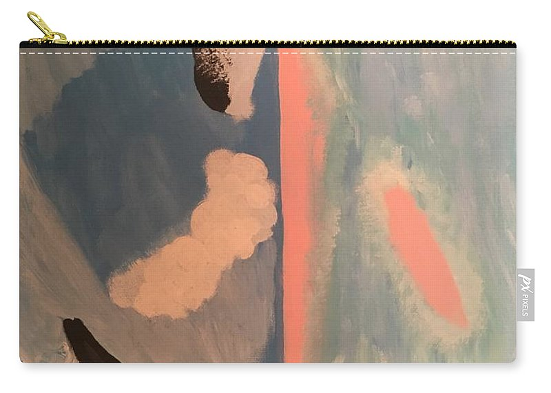 Waves Carry-all Pouch featuring the painting Ocean Painting by Catherine Poag