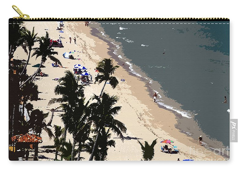 Art Carry-all Pouch featuring the painting Ocean Paradise by David Lee Thompson