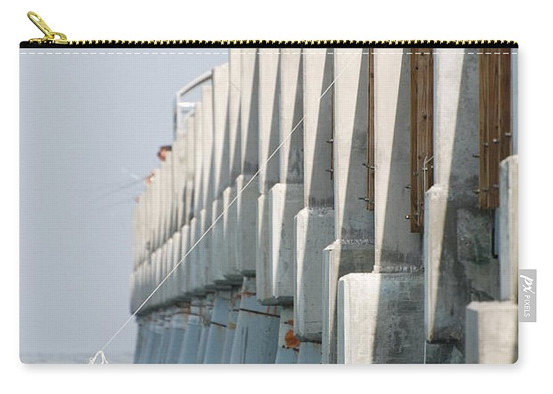 Fishing Carry-all Pouch featuring the photograph Ocean Pier by Rob Hans