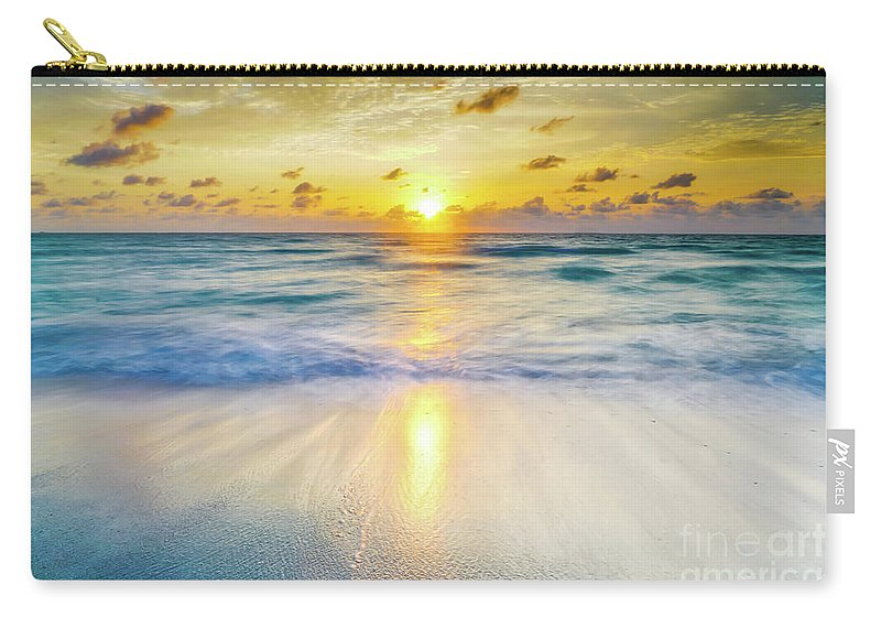 America Carry-all Pouch featuring the photograph Ocean Reflections At Sunrise by DAC Photography