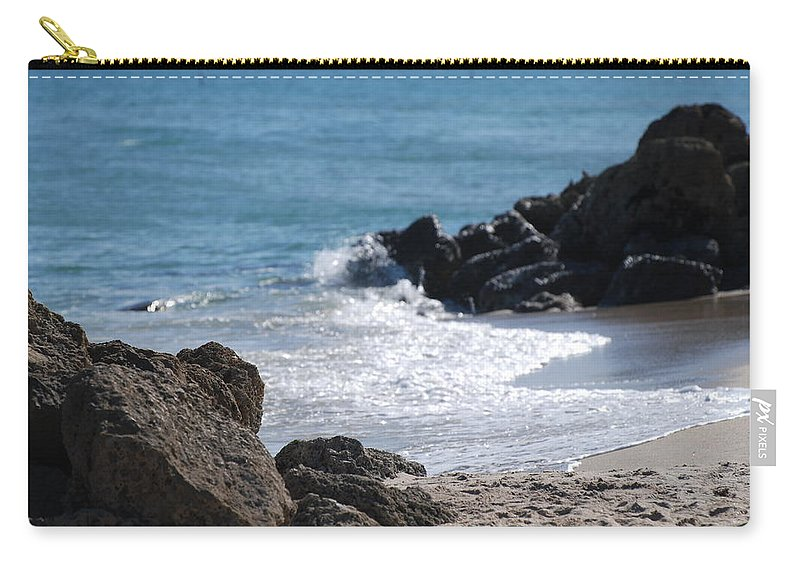 Sea Scape Carry-all Pouch featuring the photograph Ocean Rocks by Rob Hans