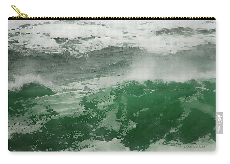 Ocean Carry-all Pouch featuring the photograph Ocean Spray by Donna Blackhall