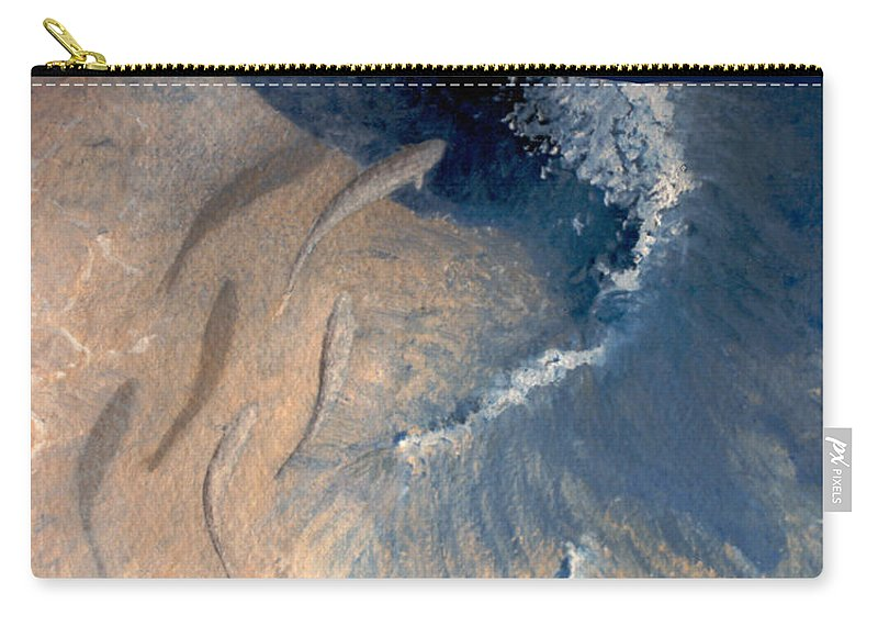 Seascape Carry-all Pouch featuring the painting Ocean by Steve Karol