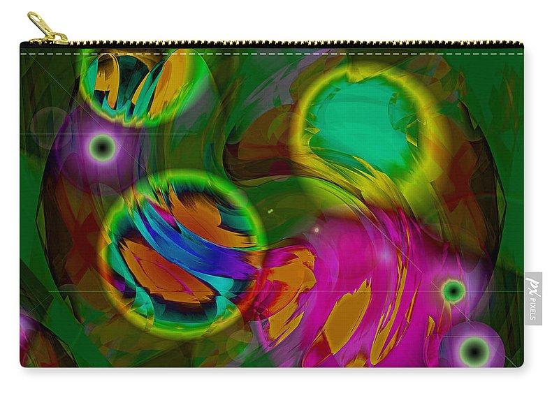 Digital Carry-all Pouch featuring the digital art Ocean Storm by Lynda Lehmann