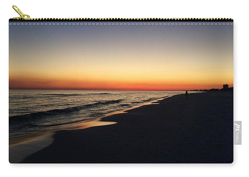 Sunset Carry-all Pouch featuring the photograph Ocean Sunset by Melissa Howell