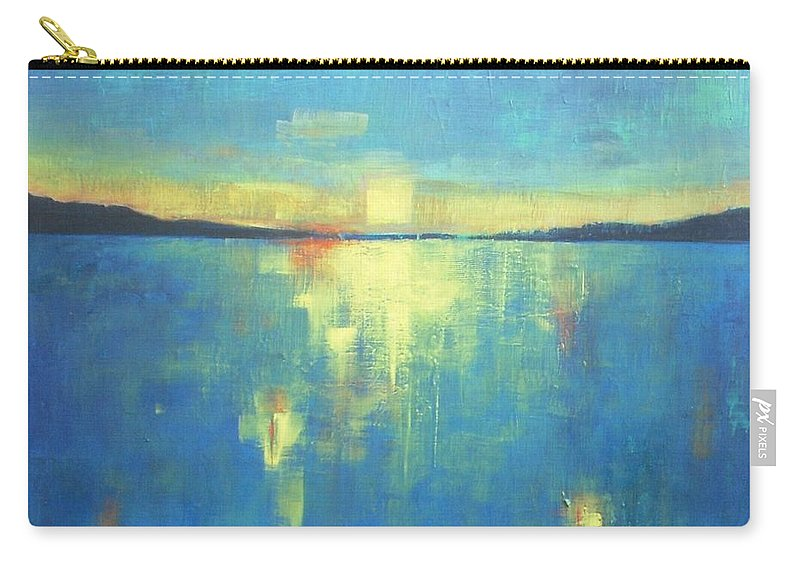 Seascape Carry-all Pouch featuring the painting Ocean Sunset by Vesna Antic