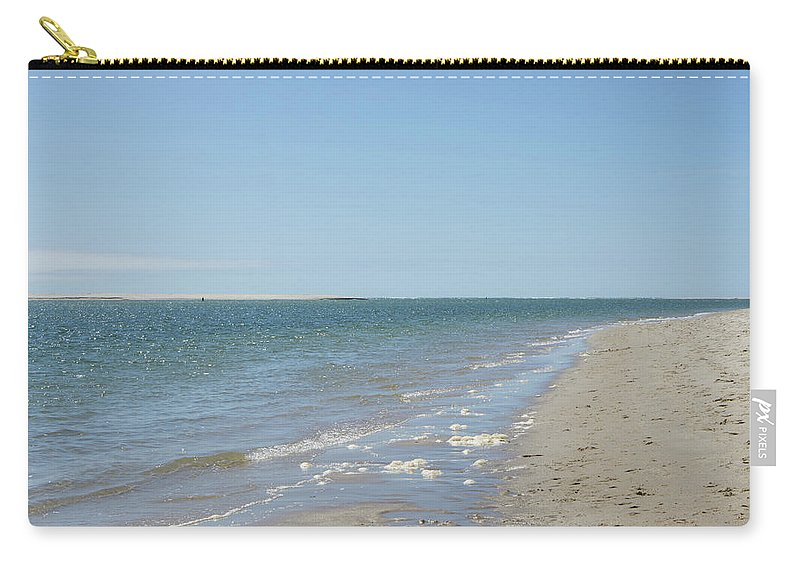 Chatham Carry-all Pouch featuring the photograph Ocean View From The Beach In Chatham by Adam Gladstone