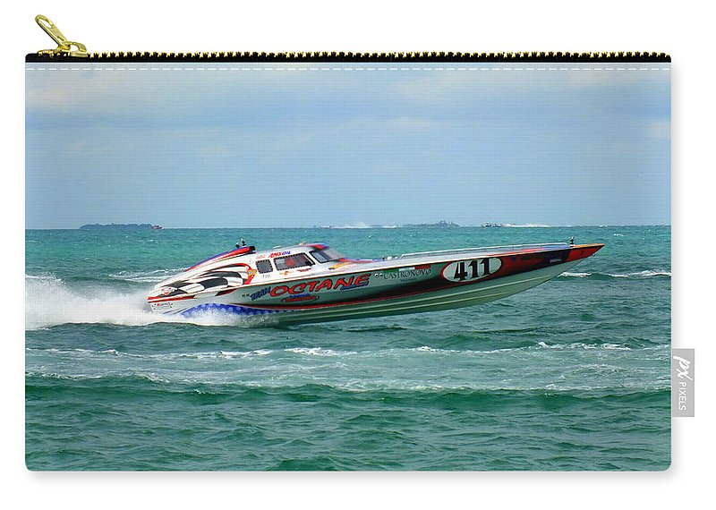 Boat Races Carry-all Pouch featuring the photograph Octane by Karen Wiles