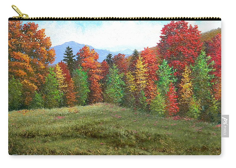 Autumn Carry-all Pouch featuring the painting October Ending by Frank Wilson