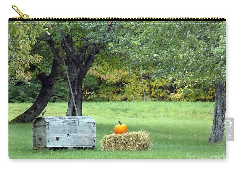 Seasons Carry-all Pouch featuring the photograph October In Maine by William Tasker