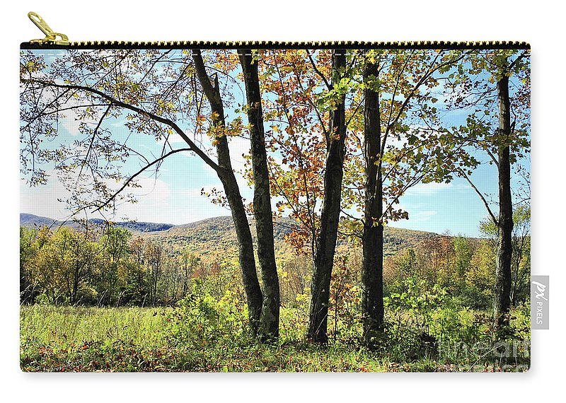 Carry-all Pouch featuring the photograph October In Vermont by Deborah Benoit