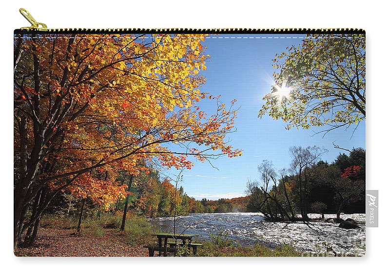 Autumn Carry-all Pouch featuring the photograph October Light by Mircea Costina Photography