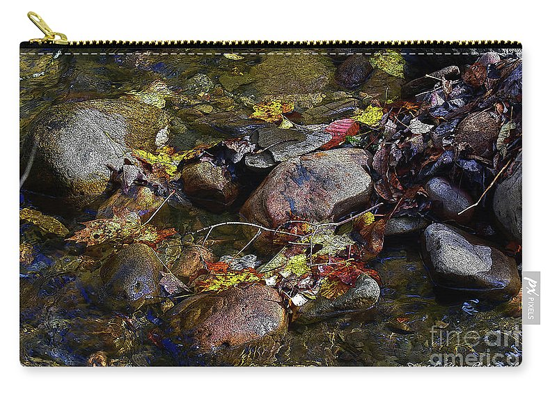 Diane Berry Carry-all Pouch featuring the drawing October Puddles by Diane E Berry
