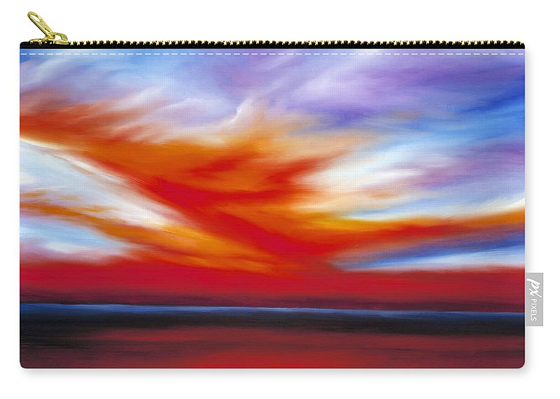 Seascape Carry-all Pouch featuring the painting October Sky II by James Christopher Hill