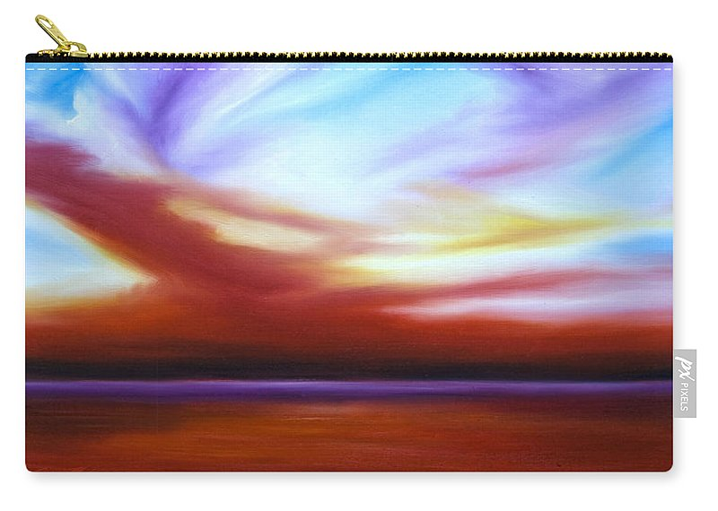 Skyscape Carry-all Pouch featuring the painting October Sky IIi by James Christopher Hill