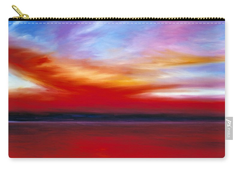 Clouds Carry-all Pouch featuring the painting October Sky by James Christopher Hill