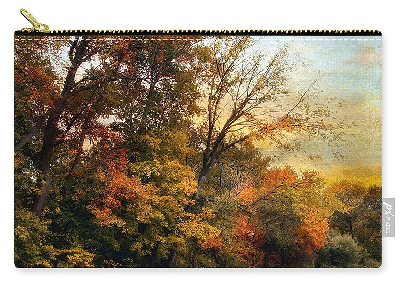 Nature Carry-all Pouch featuring the photograph October Trail by Jessica Jenney
