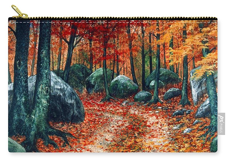 Landscape Carry-all Pouch featuring the painting October Woodland by Frank Wilson