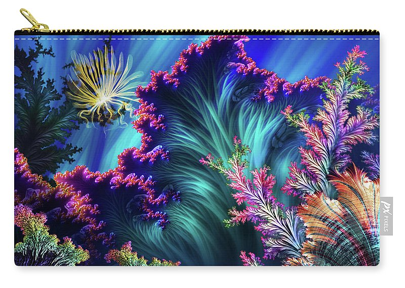 Undersea Life Carry-all Pouch featuring the mixed media Octopus's Garden by Steven Marcus