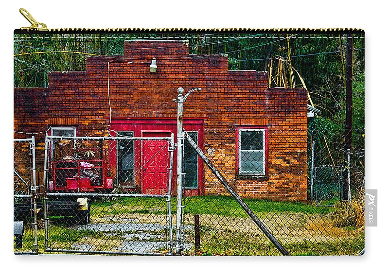 Structure Carry-all Pouch featuring the photograph Odd Little Place by Christopher Holmes