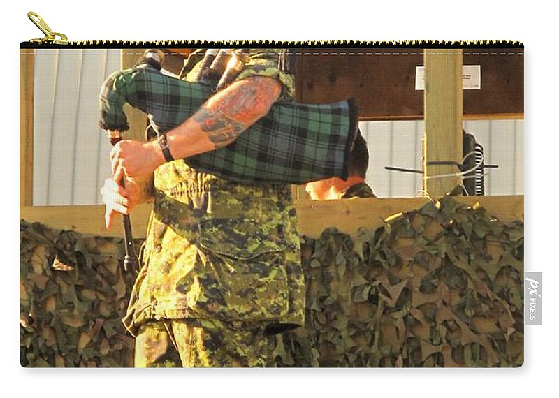 Machine Carry-all Pouch featuring the photograph Ode To A Machine Gun by Ian MacDonald