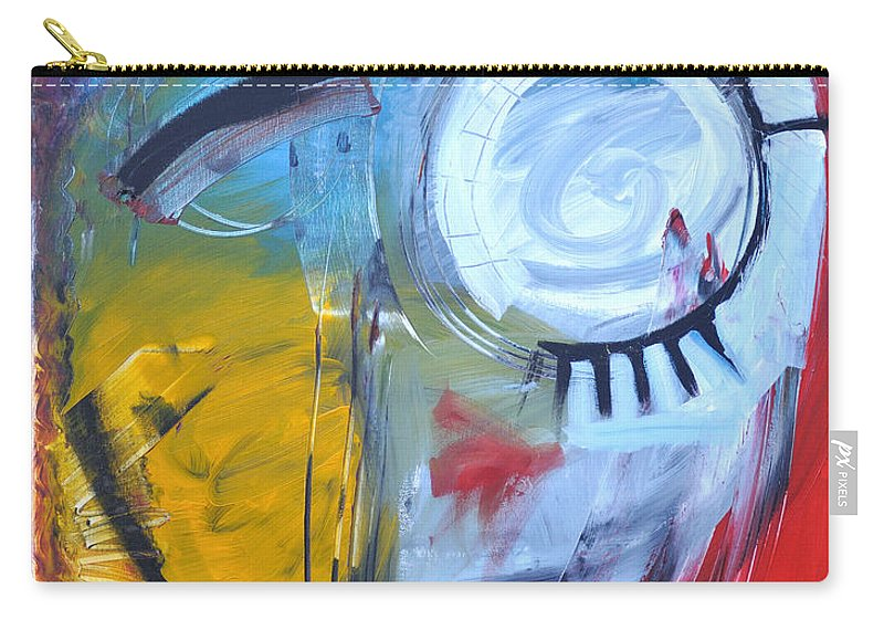 Jim Dine Carry-all Pouch featuring the painting Ode To Jim Dine by Tim Nyberg