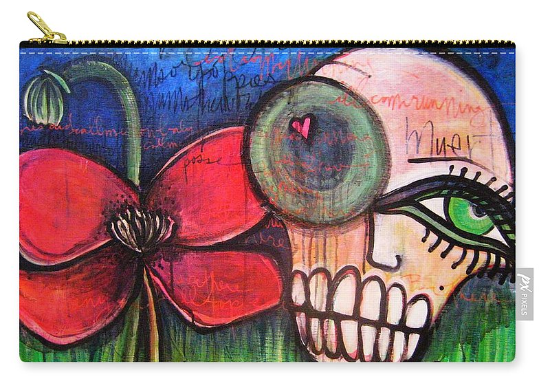 Skulls Carry-all Pouch featuring the painting Ode To Kings by Laurie Maves ART