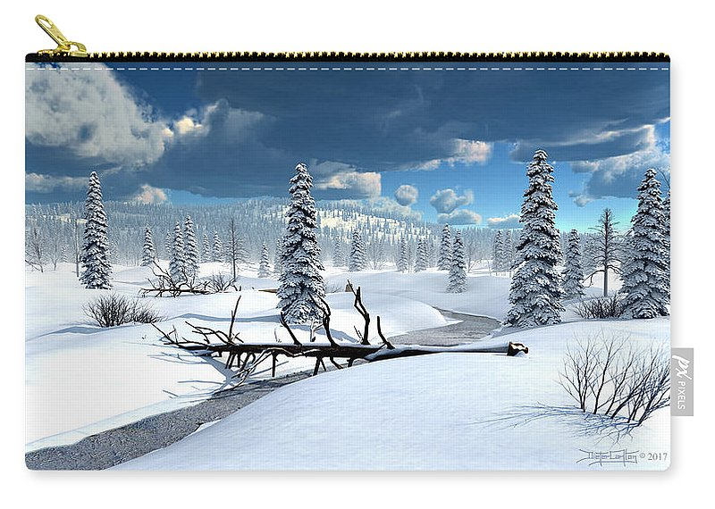 Dieter Carlton Carry-all Pouch featuring the digital art Of Blankets And Sheets by Dieter Carlton
