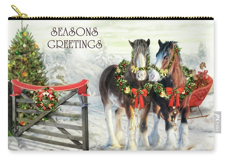 Christmas Carry-all Pouch featuring the digital art Of Christmas Past by Trudi Simmonds