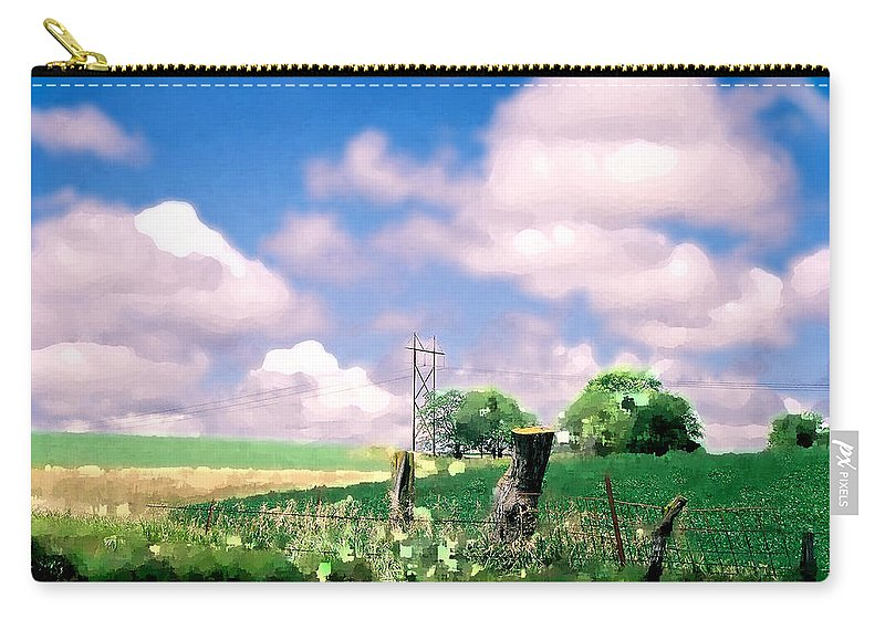 Landscape Carry-all Pouch featuring the photograph Off the grid by Steve Karol