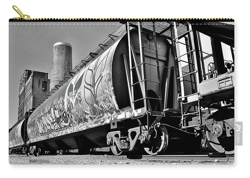 Trains Carry-all Pouch featuring the photograph Off The Rails by Susie Loechler