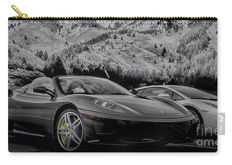 Ferrari Carry-all Pouch featuring the photograph Off The Track by David Millenheft