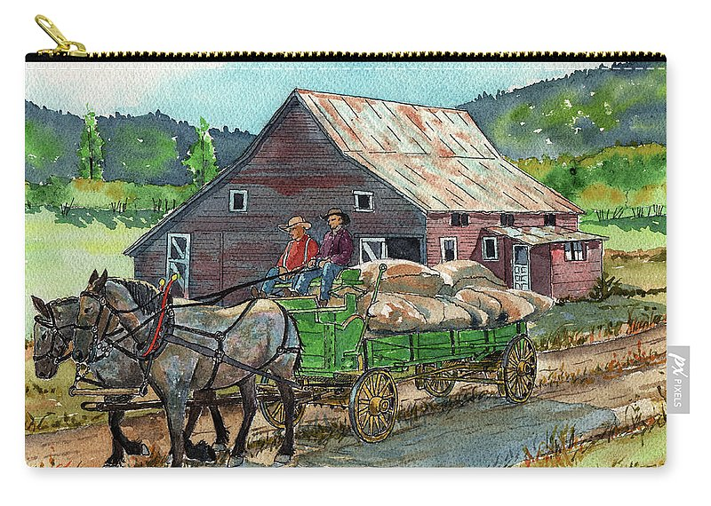 Timithy Carry-all Pouch featuring the painting Off To Market by Timithy L Gordon