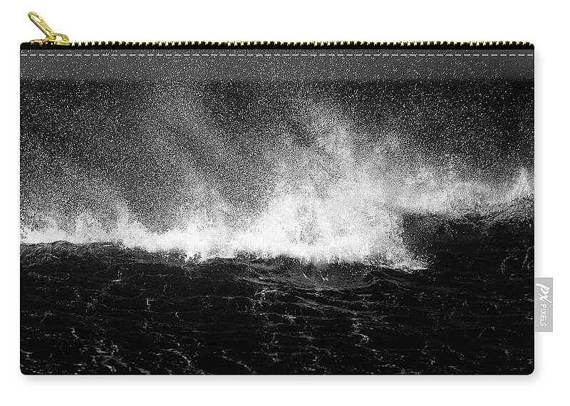 Waves Carry-all Pouch featuring the photograph Offshore by Dave Bowman