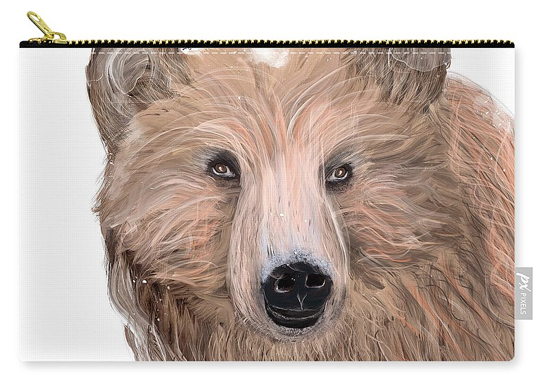 Bears Carry-all Pouch featuring the painting Oh Bear by Bri Buckley