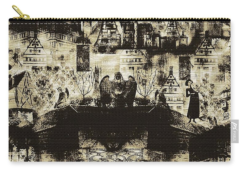 Angels Carry-all Pouch featuring the digital art Oh Bosch by RC DeWinter