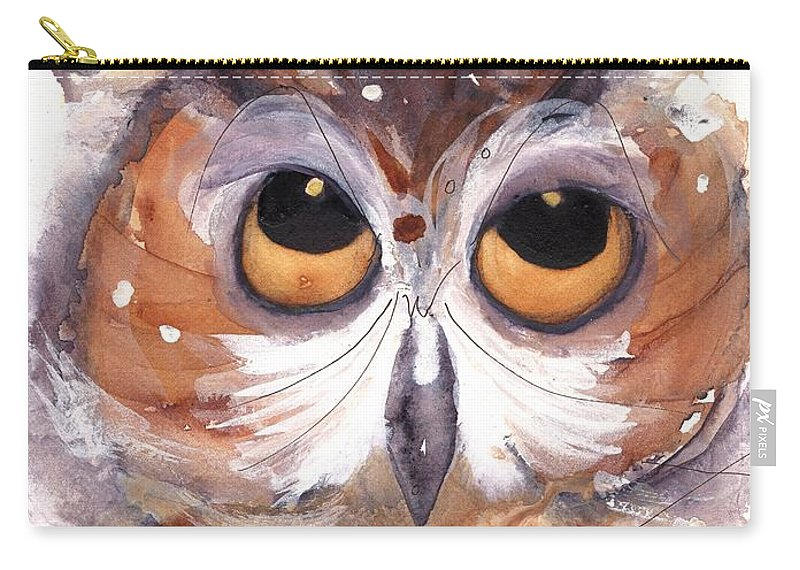 Owl Carry-all Pouch featuring the painting Oh Boy by Dawn Derman