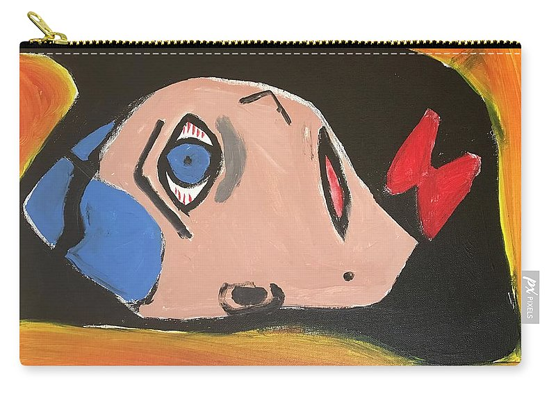 Boy Carry-all Pouch featuring the painting Oh Boy by Margaret Jemison