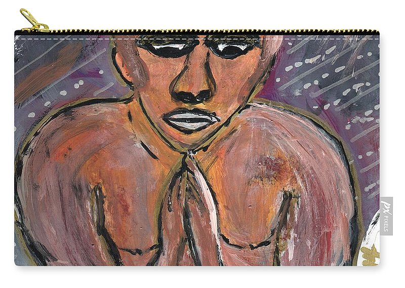 Black Art; Religion; Civil Rights Carry-all Pouch featuring the painting Oh Lord, Come By Here by The Robert Blount Collection
