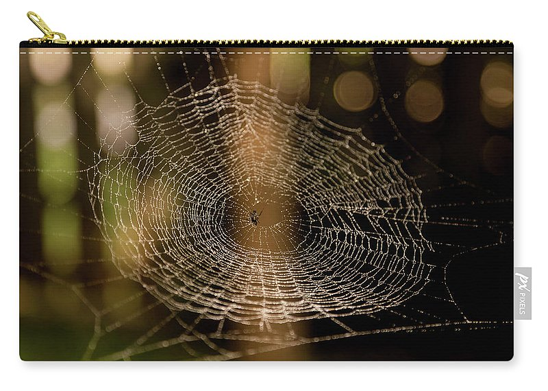 Spider Web Carry-all Pouch featuring the photograph Oh What Tangled Webs.... by James Fitterer