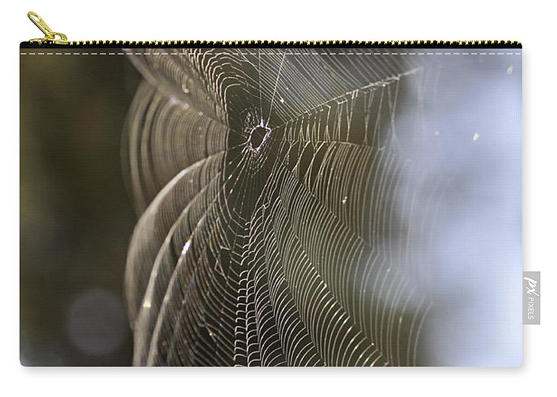 Clay Carry-all Pouch featuring the photograph Oh What Webs We Weave by Clayton Bruster