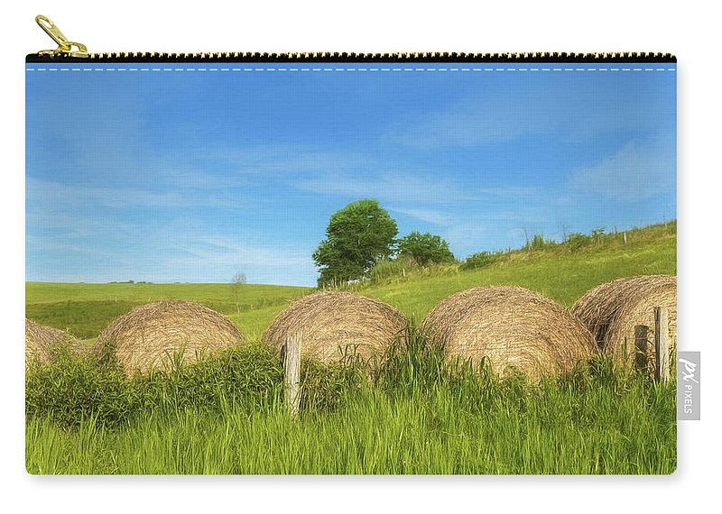 Ohio Carry-all Pouch featuring the photograph Ohio Landscape In Summer by Tom Mc Nemar