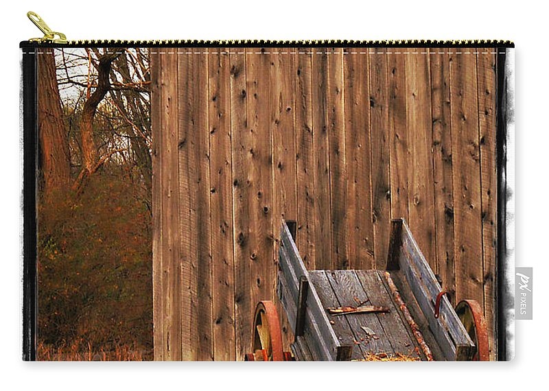 Amish Carry-all Pouch featuring the photograph Ohio Wheelbarrel In Autumn by Joan Minchak