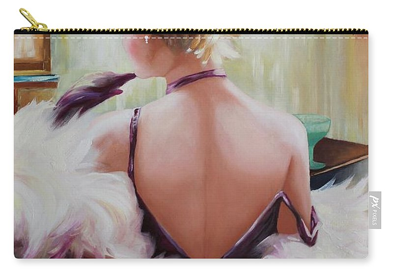 Originals Carry-all Pouch featuring the painting Oil Msc 011 by Mario Sergio Calzi