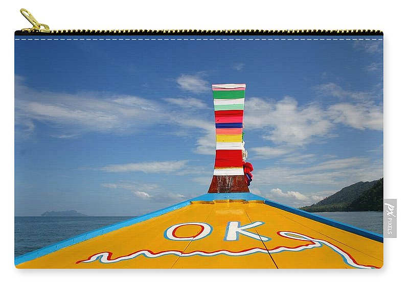 Carry-all Pouch featuring the photograph Okay In Thailand by Minaz Jantz