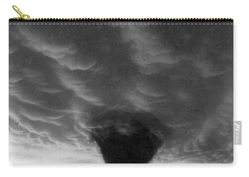 1898 Carry-all Pouch featuring the photograph Oklahoma Tornado, C1898 - To License For Professional Use Visit Granger.com by Granger